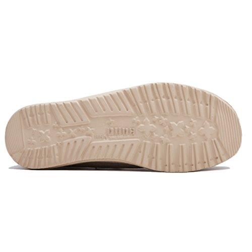 Dude Shoes Männer Wally Gewaschen Kastanie Braun