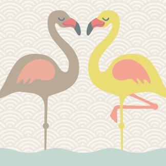 anna wand Bordüre selbstklebend FUNNY FLAMINGOS - Wandbordüre Kinderzimmer / Babyzimmer mit fröhlichen, bunten Vögeln - Wandtattoo...