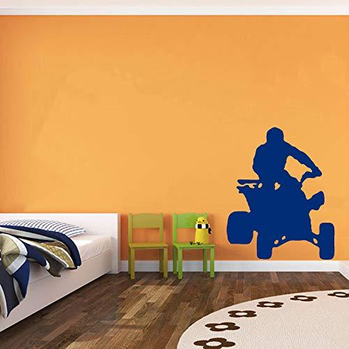 Geiqianjiumai Sticker Mural à Quatre Roues Sports de Plein air Hobby Chambre d'enfant pour Hommes Cave Amovible Mur Art Applique Wall Sticker Bleu 42x50cm