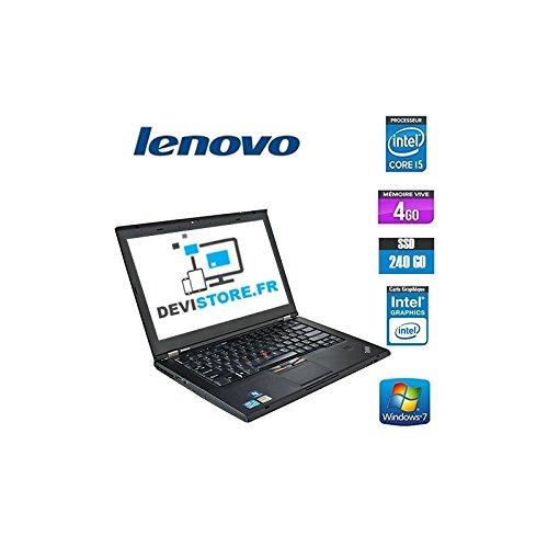 'Lenovo ThinkPad T420-PC portatile-14-nero (Intel Core i5-2520M/2.50GHz, 4GB di RAM, HDD 240GB SSD, Masterizzatore DVD, webcam, Windows 7Professionale)