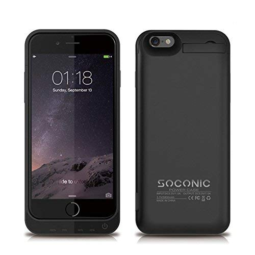 644c5d40e83 [With A Screen Protector] iPhone 6s Battery Case Soconic 5800 mAh  Rechargeable Extended Battery