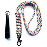 Acme 210.5 Dog Whistle & Lanyard with Cobra Stitch Knot 3mm in Rainbow