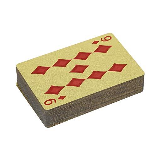(Jiobapiongxin Langlebige Goldfolie mit 24 Karat vergoldete Spielkarte für Erwachsene mit Goldfolien-Poker-Karte)