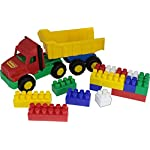 "Polesie 4239 70"" Favorite Dump Truck Builder Construction, 17 Elements-Set with Vehicles, Multi Colour"