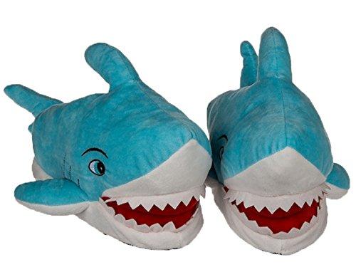 Bada Bing Kuschel Hausschuhe Hai Fisch 31/32 Plüsch Pantoffel Kind Jungen Schuh 44