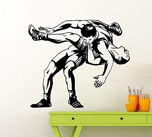 Abnehmbare Sport Wandtattoo Wrestling Wandaufkleber GYM Vinyl Poster Boy Schlafzimmer Dekoration Zubehör Kunstwand 66 * 57 cm