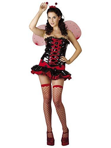 com-four® Sexy Marienkäfer Kostüm mit Flügel und Fühler für Fasching, Karneval, Halloween (Größe M) (01 Stück - - Mickey Mouse Fantasia Kostüm