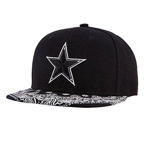 Damen & Herren Baseball Kappe,OYSOHE Neueste Fünf Stern Stickerei Männer Frauen Hut Hüte Baseball Cap Mode Trends Hip Hop