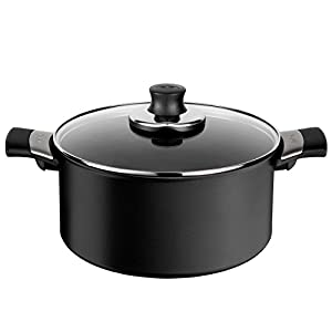 Tefal Talent Pro non-stick aluminium saucepan with lid, diam. 20 cm, Black, measures 32 X 21.4 X 120 cm - E44044.