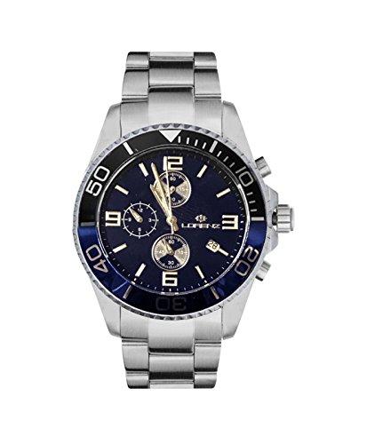 Reloj LORENZ Cronógrafo 030049ee Hombre Acero Azul y Negro Sub 100Mt