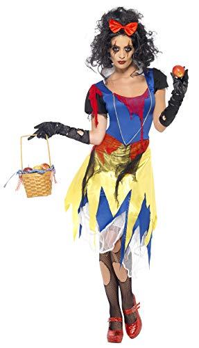 Smiffys, Damen Snow Fright Kostüm, Kleid und Haarschleife, Größe: S, 21594