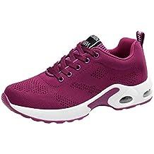 Zapatillas Deportivas Cuna Mujer Casuales,Calzado Transpirable Volando Zapatos Deportivos Tejidos Casual Zapatos de Malla