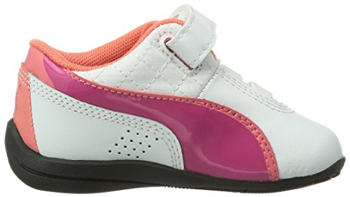 Puma Drift Cat 6 Diamonds V Mädchen Sneakers Weiß (white-fuchsia purple 01)