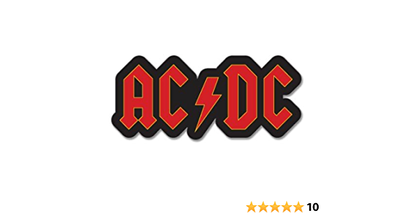 Acdc Ac Dc Logo Vynil Car Sticker Choice Of Size Large 10 U Acdc6 10 Küche Haushalt
