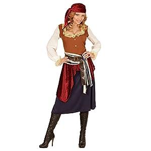 WIDMANN 04061?Adultos Disfraz piratin, Vestido, Banda y pañuelo