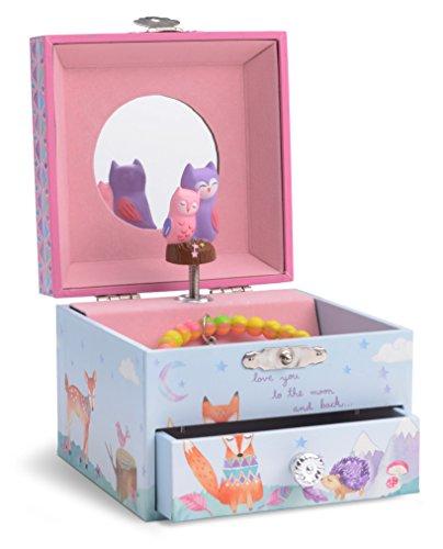 JewelKeeper - Caja Infantil de Música con Unicornio y Arco Iris, Equipada de Cajón de Almacenamiento - Melodía The Unicorn