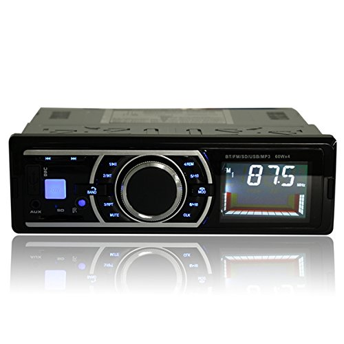 Rishil World Car Stereo Audio Radio FM Aux Input Receiver In Dash SD MMC USB WMA MP3 Player