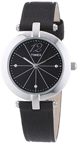 Timex Damen-Armbanduhr XS Starlight Collection Analog Quarz Leder T2P544