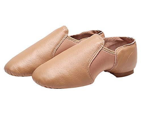 Zapatos de Baile Latino Moderno - Zapatillas de Cuero Muy Planas para
