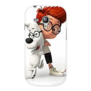 Stylish Boy and Spec Dog Multicolor Back Case Cover for Galaxy S3 Mini