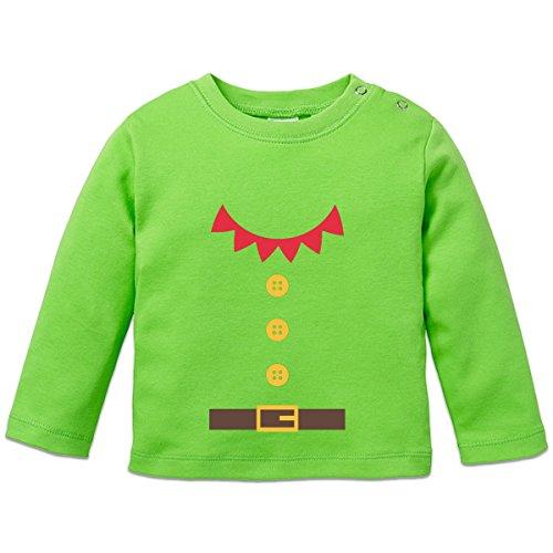 Santas Little Helper Costum Baby Langarmshirt by Shirtcity