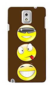 KnapCase Smiley Trio Designer 3D Printed Case Cover For Samsung Galaxy Note 3