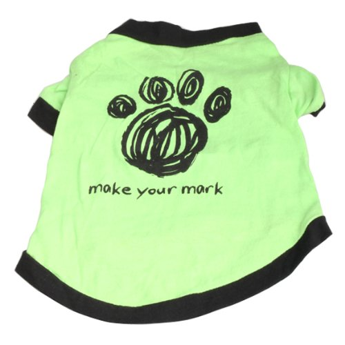 Kostüm Belle Plus - Hund Kleidung, pergrate Mignon Petit Chat Welpen Baumwolle Bedruckt Shirt Mantel Outfits Kostüme Sommer-Grün
