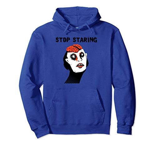 Lustige Zombie-Gehirne stoppen starren wirklich beängstigend Pullover Hoodie (Beängstigend Kostüm Für Jugendliche)