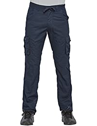 Beevee 100% Cotton Solid Navy Fixed Waist Cargo With Drawstring