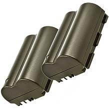 Minadax 2x batterie Li -ion pour Canon EOS 300D, 50D, 40D, 30D, 20D, 5D - que la batterie BP- 511A