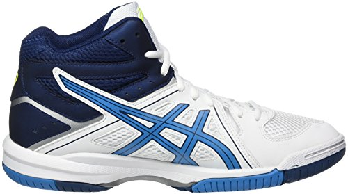 Asics Gel-Task Mt, Chaussures de Volleyball Homme Blanc (White/blue Jewel/safety Yellow)