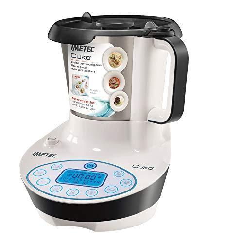 Imetec Cukò Robot da Cucina Multifunzione con Cottura, Multicooker con 3 Programmi Automatici per Risotti, Pasta e Vellutate, 10 Funzioni, 570 W, 4 Porzioni, con Ricettario (Ricondizionato)