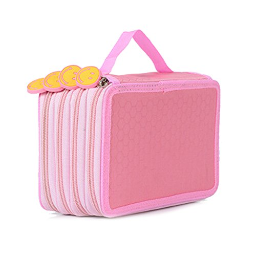 ZUMUii Butterme 4 Couches de Haute capacité Oxford Pencil Case 72 Slots Crayon Portable Organizer Box Crayon d'emballage pour Les étudiants Adolescents Filles Garçons