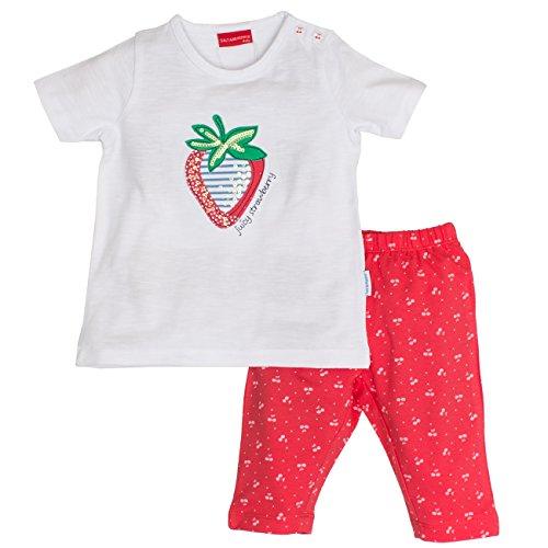 SALT AND PEPPER Baby-Mädchen Bekleidungsset B Set Juicy Erdbeere, Mehrfarbig (White Hibisc Preisvergleich