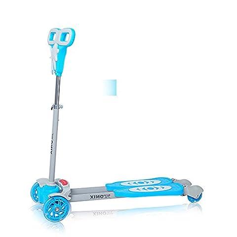 Scooter/ camion de grenouille-ciseaux/ swing/ bloquer Flash slide-bleu