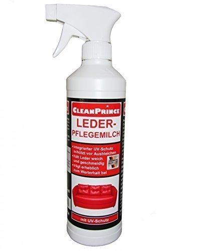LEDER-PFLEGEMILCH 500 ml von CleanPrince 0,5 Liter Lederpflegemilch Lederbalsam Ledermilch Lotion Leder Auto Ledermöbel Leder-Pflegemilch Pflege Pflegemittel Lederpflege Leather Lotion Lederlotion Creme Möbel Lederoberflächen Autositze Ledersessel etc.