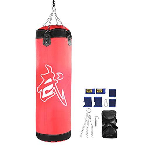 Alomejor Raining Fitness MMA Boxing Bag Hook Saco de Arena Saco de Arena(60CM-Red)