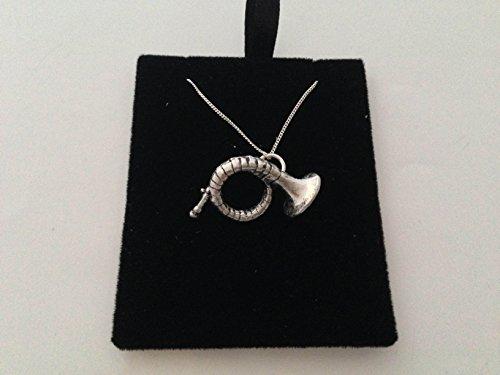 C22 Jagdhorn Anhänger Echt 925 sterling Silber Halskette Kette prideindetails 66.04 cm handgefertigt mit Geschenkbox