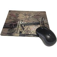 Ducomi® Webber–Alfombrilla para ratón antideslizante con dibujo 3d de profundidadpara escritorio de PC. Dimensiones:27 x 19 cm London Bridge