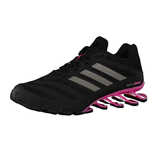 adidas Damen Laufschuhe Springblade core black/iron met./solar pink 42 2/3