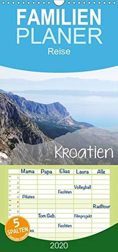 Kroatien - Familienplaner hoch (Wandkalender 2020, 21 cm x 45 cm, hoch)