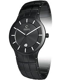 Obaku Harmony V101G BBSB - Reloj analógico de caballero de cuarzo con correa de acero inoxidable negra