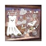 Wandaufkleber Kleiderschrank Schränke Dessous Shop Damenbekleidung Shop Fensterglas Wandaufkleber 36x42cm