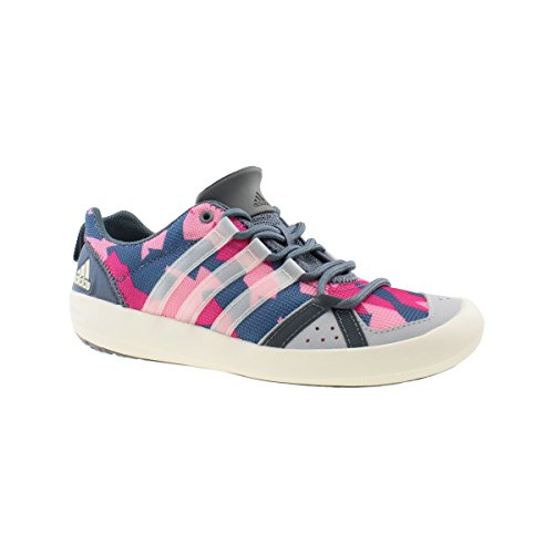 Adidas Boat Lace Segelschuh Damen grau-pink, Größe EU 40 (UK 6,5) (Boat Lace)