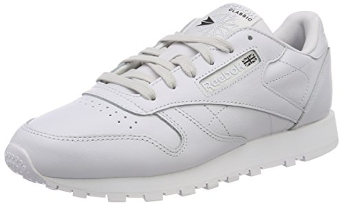 Reebok Damen Classic Leather X Face Gymnastikschuhe, Grau (Porcelainwhiteblack), 38 EU