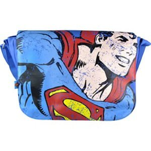 Superman - Distressed Print Messenger Bag (Schuhe Canvas Distressed)