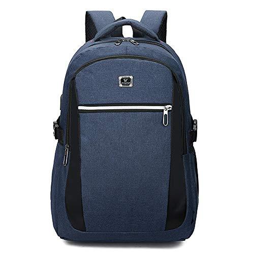 Rucksack Computer TascheBusiness einfache 15,6-Zoll-Geschenk Rucksack Männer und Frauen Schultasche, 631 blau, 16 Zoll -