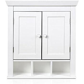 Küchenschrank weiß  HOMFA Landhaus Hängeschrank Wandschrank Badschrank Küchenschrank ...