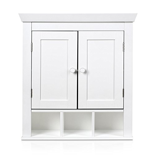 HOMFA Casa de Campo Armarios Baño Muebles de Pared Blanco MDF 57*21.5*61cm