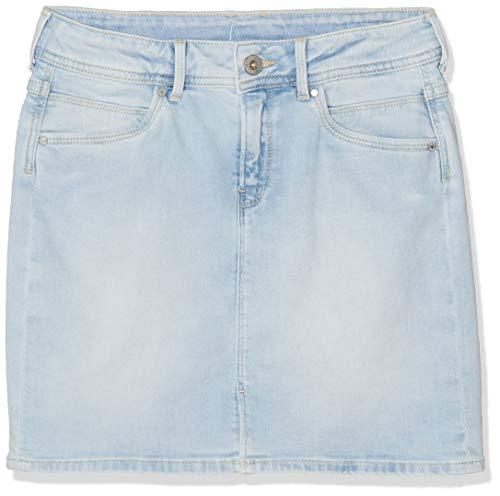 Pepe Jeans Mädchen Monia Rock, Blau (Bleach Denim Pj2), 9-10 Jahre (Herstellergröße: 10) -